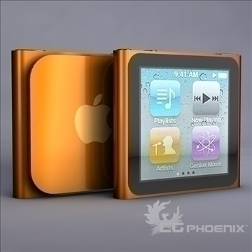 gen6 ipod nano model 3d 3ds dxf fbx c4d x obj 107312