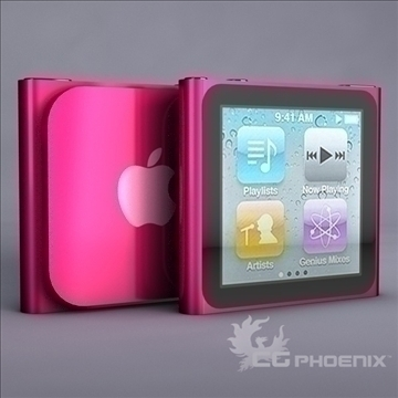 gen6 ipod nano model 3d 3ds dxf fbx c4d x obj 107313