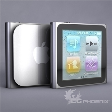 gen6 ipod nano 3d model 3ds dxf fbx c4d x  obj 107314