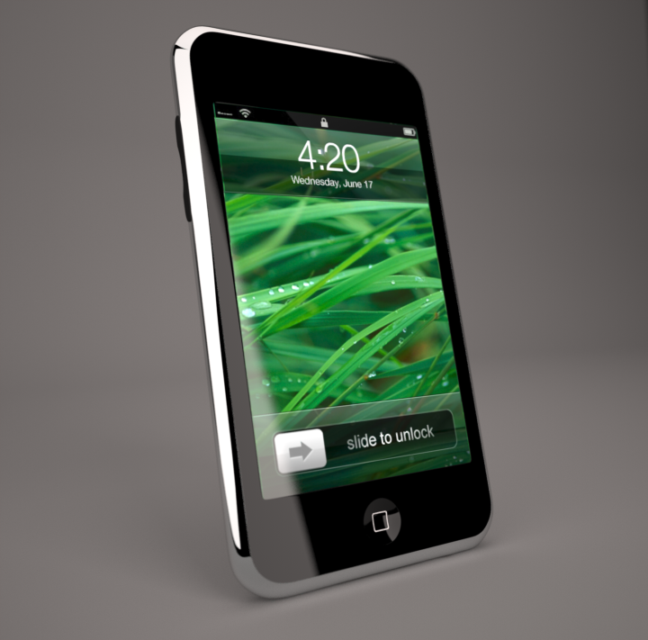ipod touch 2g 3g 3d model 3ds max dwg textual obj 112158