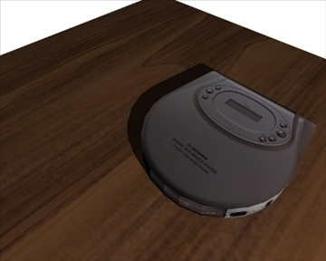 prijenosni disk player 3d model 3ds 98198