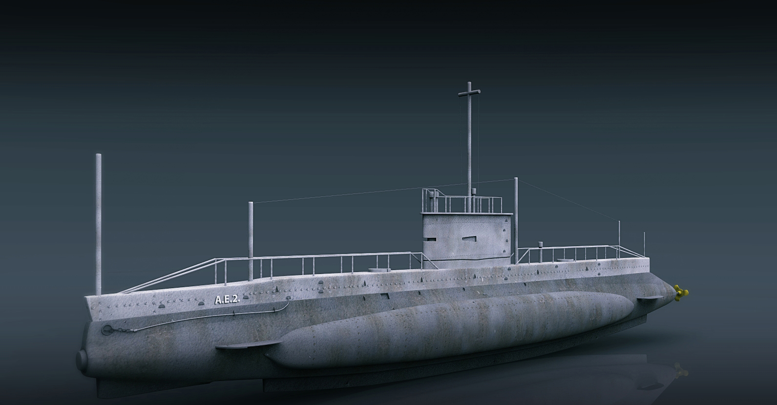 ae2 australia submarine model 3d ma mb 129588