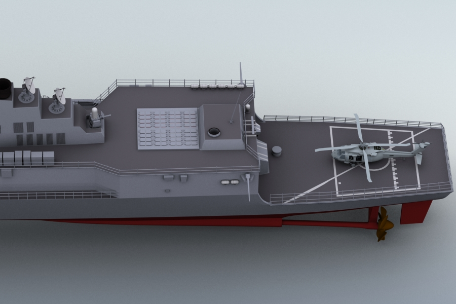 arleigh burke destroyer 3d model 3ds max fbx obj 123399