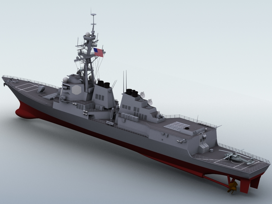 arleigh burke destroyer 3d model 3ds max fbx obj 123400