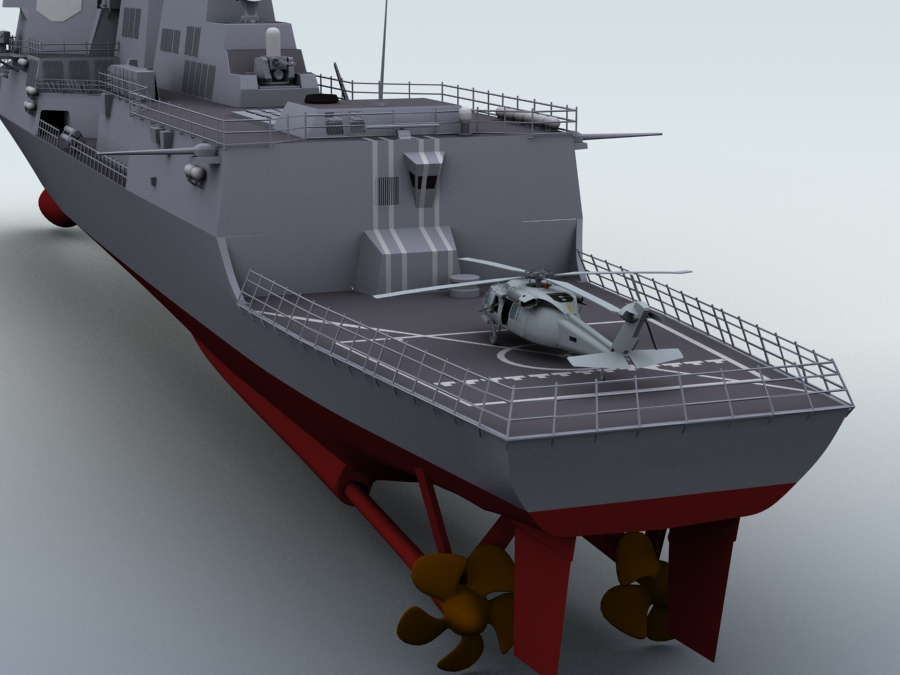 arleigh burke destroyer 3d model 3ds max fbx obj 123401