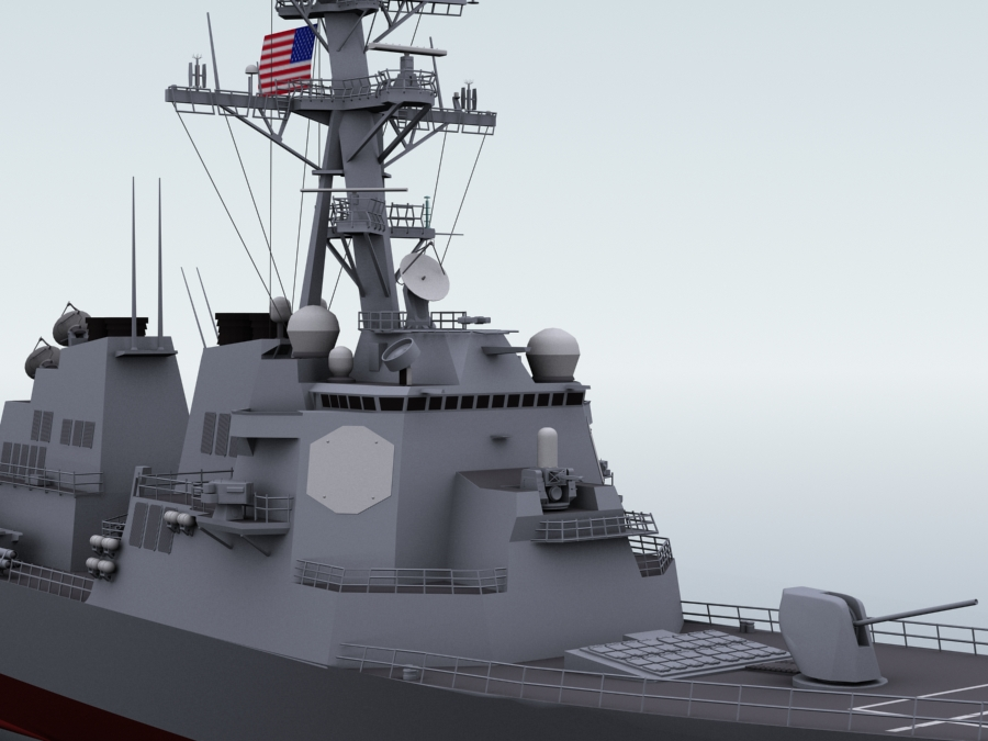 arleigh burke destroyer 3d model 3ds max fbx obj 123402