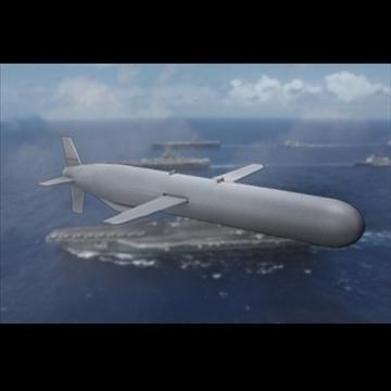 bgm-109 tomahawk cruise missile 3d model 3ds dxf fbx c4d x obj 88942