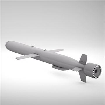 bgm-109 tomahawk cruise missile 3d model 3ds dxf fbx c4d x obj 88946