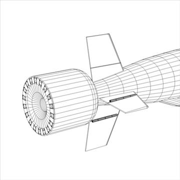 bgm-109 tomahawk cruise missile 3d model 3ds dxf fbx c4d x obj 88950