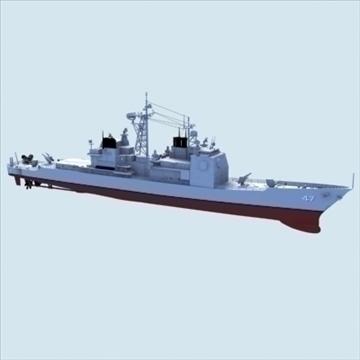 cg47 okkur Navy Ticonderoga Class Aegis Cruiser 3d líkan hámark lwo hrc xsi áferð obj 102631