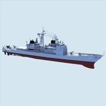 cg47 us navy ticonderoga sinif aegis cruiser 3d model max lwo hrc xsi texture obj 102631