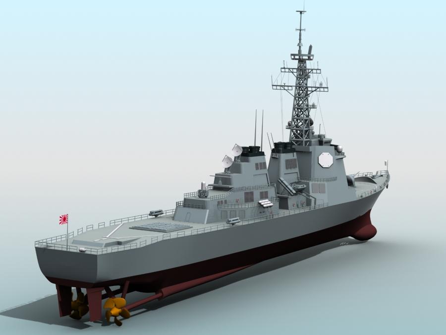 kongo class aegis destroyer model 3d 3ds max fbx obj 122729