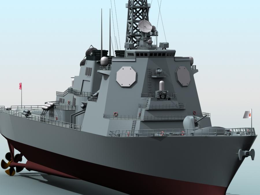 kongo class aegis destroyer model 3d 3ds max fbx obj 122730