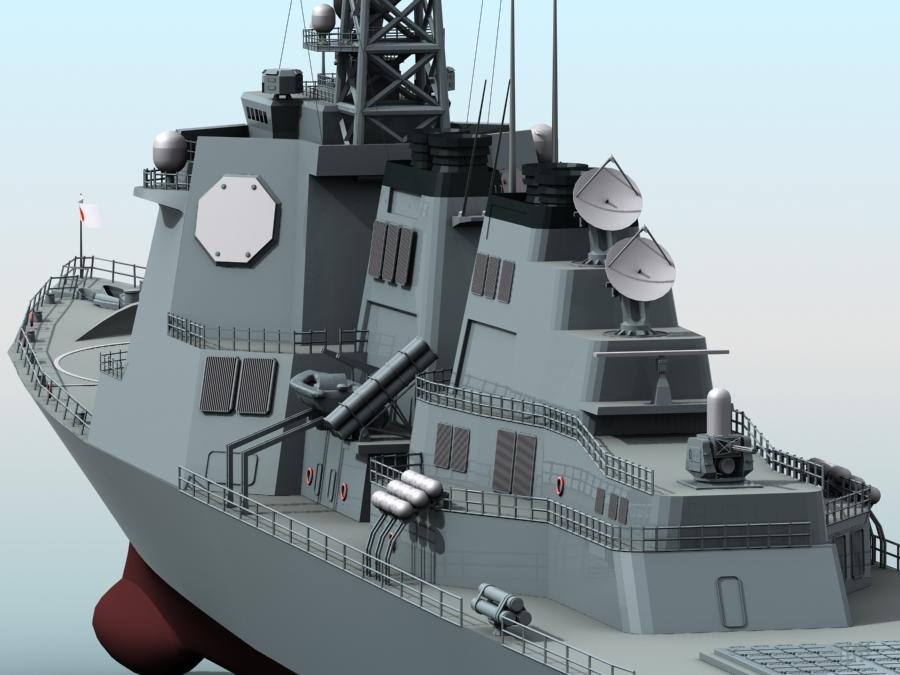 kongo class aegis destroyer model 3d 3ds max fbx obj 122731