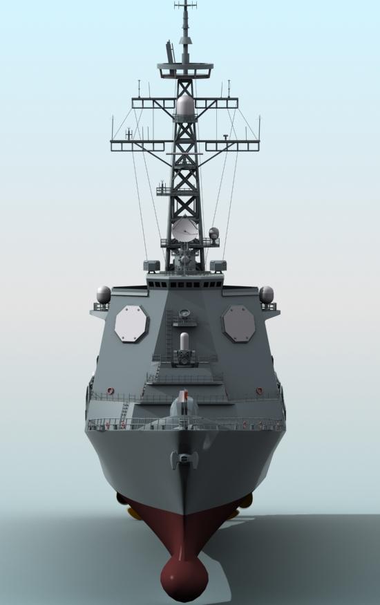 kongo class aegis destroyer model 3d 3ds max fbx obj 122733
