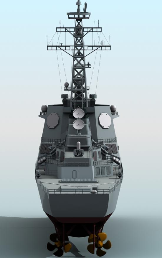 kongo class aegis destroyer model 3d 3ds max fbx obj 122734
