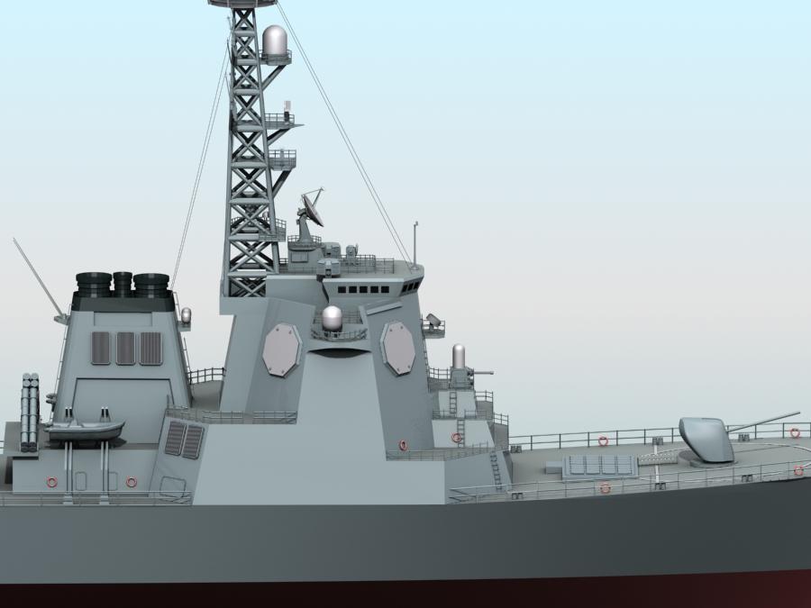 kongo class aegis destroyer model 3d 3ds max fbx obj 122735
