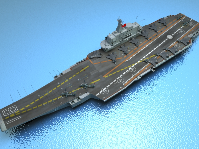 liaoning aircraft carrier 3d model 3ds max fbx obj 154214