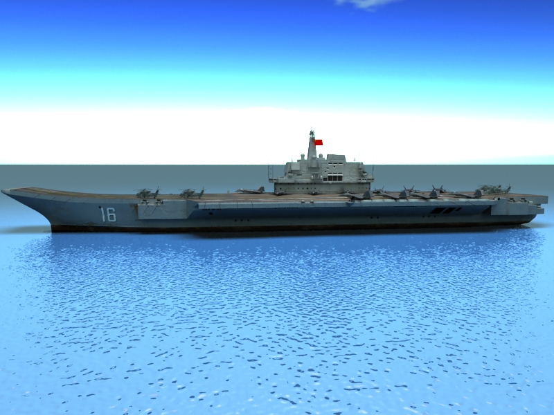 liaoning aircraft carrier 3d model 3ds max fbx obj 154216