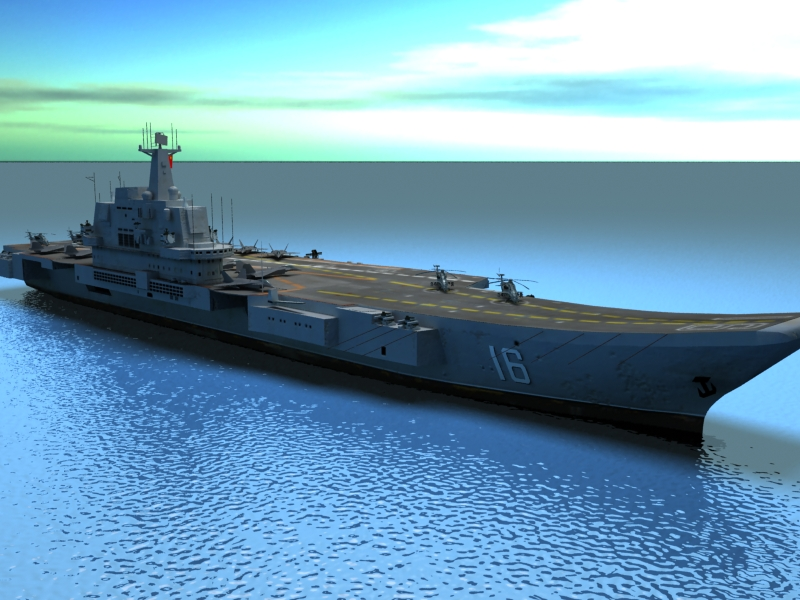 liaoning aircraft carrier 3d model 3ds max fbx obj 154217