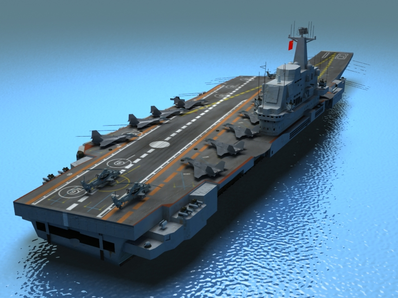 liaoning aircraft carrier 3d model 3ds max fbx obj 154218