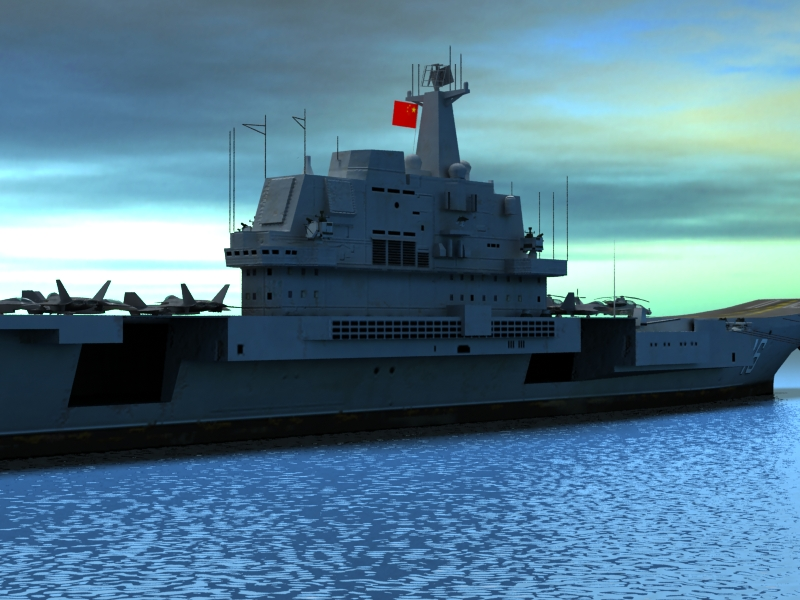 liaoning aircraft carrier 3d model 3ds max fbx obj 154219