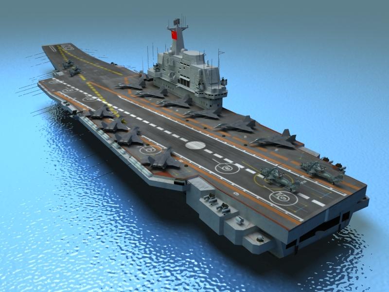 Liaoning Aircraft Carrier 3d Model Navy 3ds Max Fbx Obj Ar Vr
