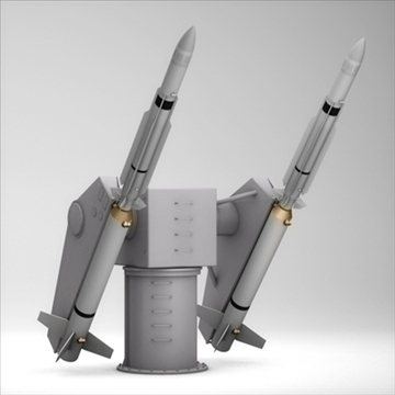 sm-2 missile launching turret 3d model 3ds dxf fbx c4d x obj 88902