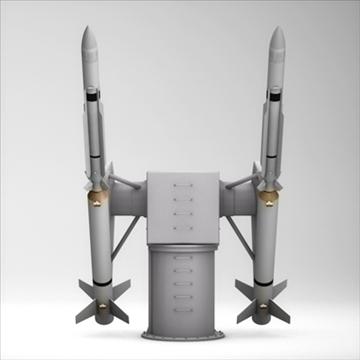 sm-2 missile launching turret 3d model 3ds dxf fbx c4d x obj 88905