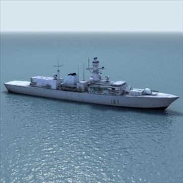 type23_frigate_rn_3dgame 3d загвар 3ds max lwo ma mb hrc xsi obj 99451
