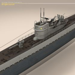 Type IX U-boat submarine ( 77.03KB jpg by tartino )