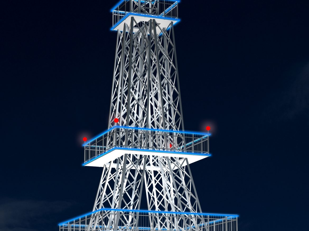 Cell Tower 3D Model ( 1647.96KB jpg by caworks )