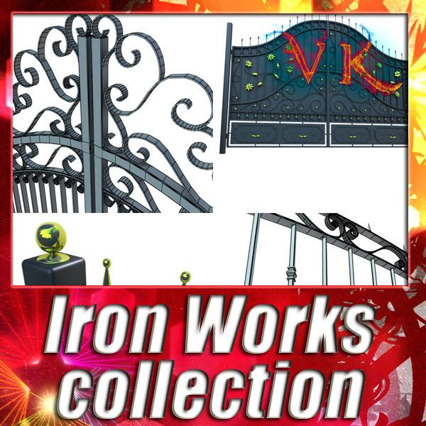puerta de hierro colección 3d modelo max fbx 132016