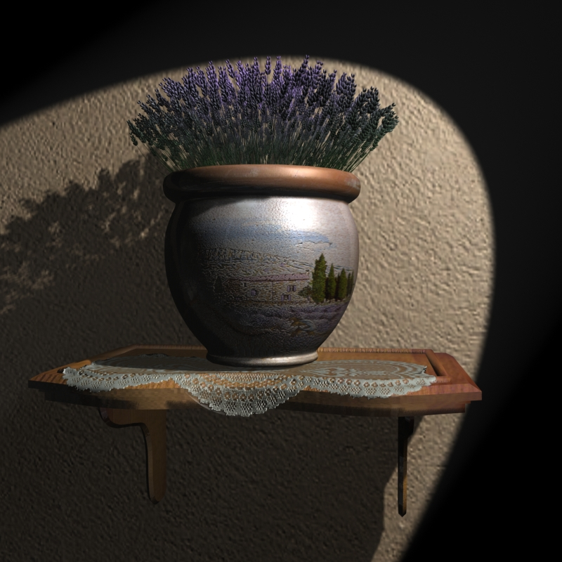 lavender scene 3d model max 148169