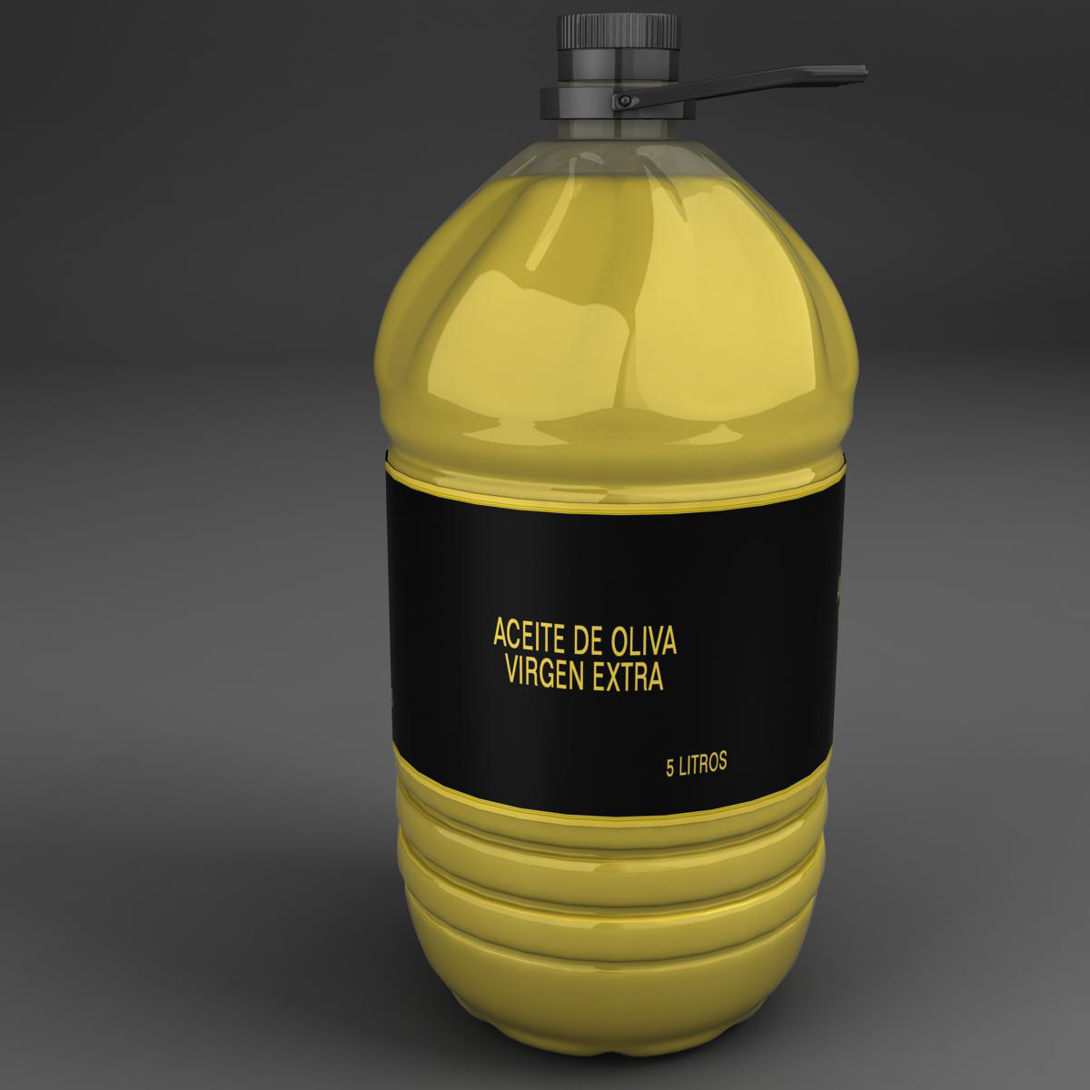 oil bottle 3d model 3ds max fbx ma mb obj 158400