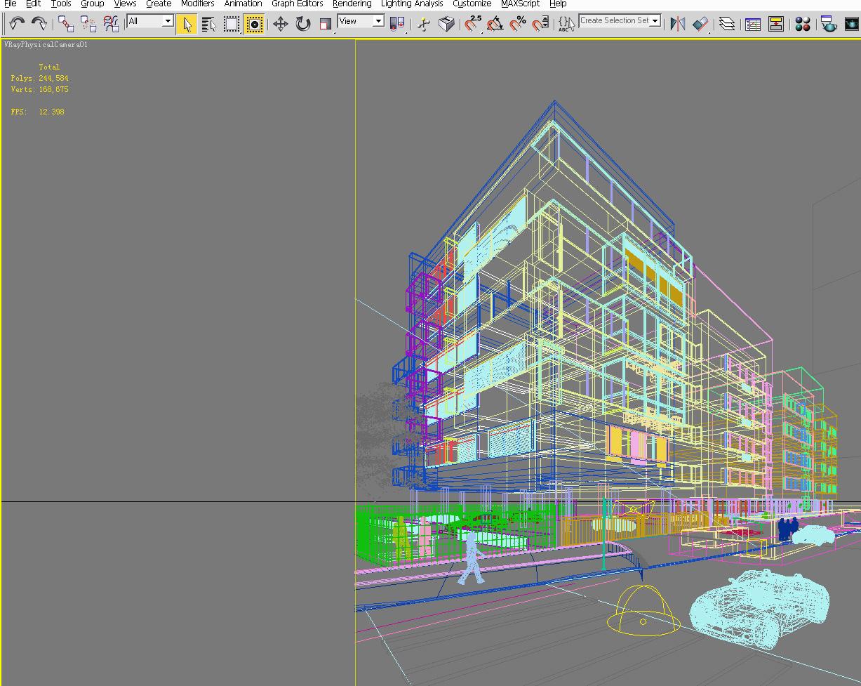 building 077 3d model max 133613