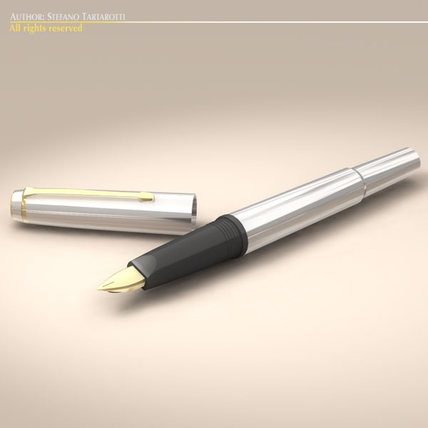fountain pen 3d model 3ds dxf fbx c4d dae obj 118636