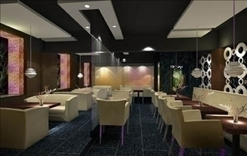 modern restaurant 034 3d model 3ds max 90292