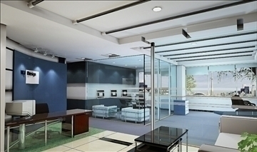office 004 3d model 3ds max 108961
