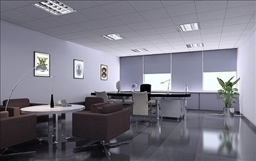 office 007 3d model 3ds max 83033