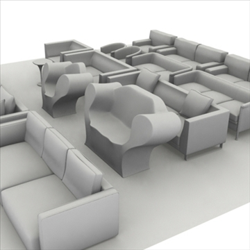 sofa pack 1 3d model 3ds max obj 80349