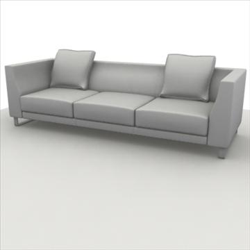 sofa pack 1 3d model 3ds max obj 80355