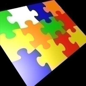 12 piece jigsaw puzzle sections 3d model 3ds 89792