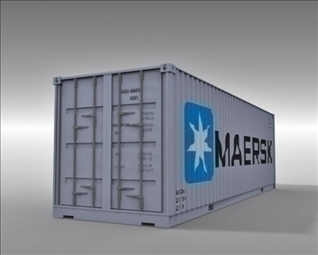 4 container collection 3d model 3ds max obj 110042