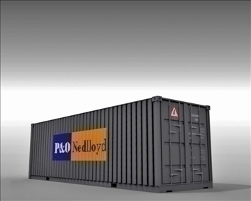 4 container collection 3d model 3ds max obj 110045