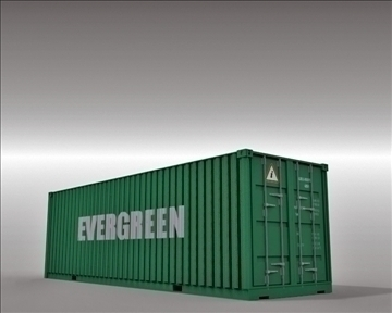 4 container collection 3d model 3ds max obj 110046
