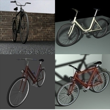 4 in 1 bicycle pack 3d model 3ds 97398