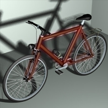 4 in 1 bicycle pack 3d model 3ds 97405