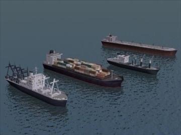 4civilian ships_3dmodels 3d model 3ds max 99293