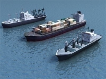 4civilian ships_3dmodels 3d model 3ds max 99294